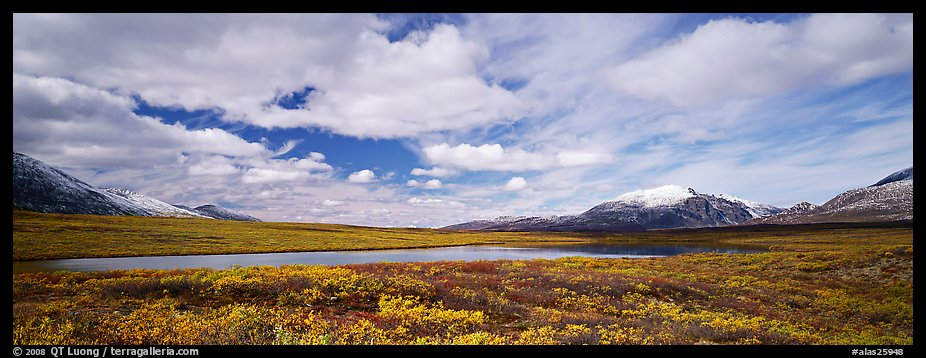 Tundra landscape and clouds in autumn. Alaska, USA (color)
