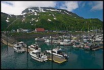 Yachts ready for sailing and harbor. Whittier, Alaska, USA ( color)