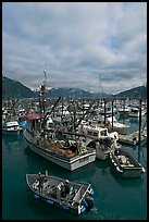 Fishing boats in harbor. Whittier, Alaska, USA ( color)