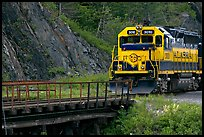 Alaska railroad locomotive. Whittier, Alaska, USA ( color)