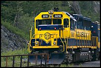 Alaska train locomotive. Whittier, Alaska, USA ( color)