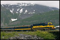 Alaska train. Whittier, Alaska, USA (color)