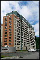 Begich towers, home to half of Whittier population. Whittier, Alaska, USA ( color)