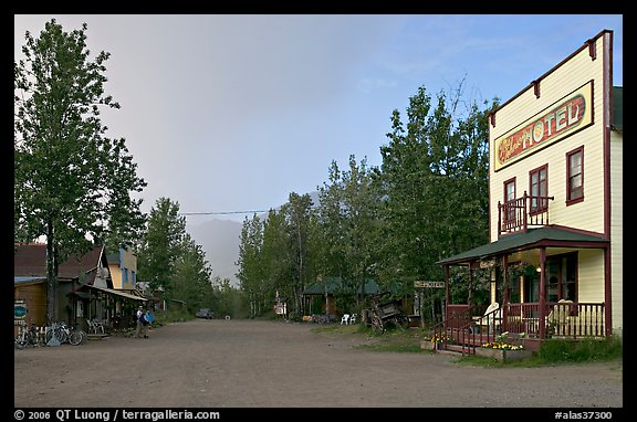 Main street. McCarthy, Alaska, USA (color)