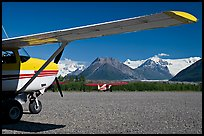 Mc Carthy airport. McCarthy, Alaska, USA (color)