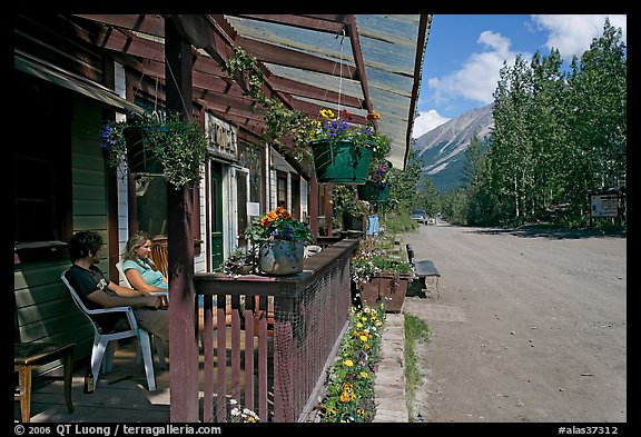 McCarthy lodge and main street. McCarthy, Alaska, USA (color)