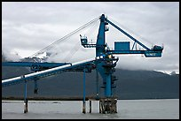 Coal unloading installation. Seward, Alaska, USA (color)
