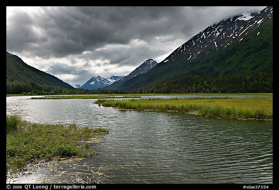 Tern Lake, mid-morning summer. Alaska, USA (color)