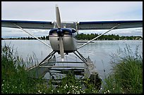 Floatplane on Lake Hood. Anchorage, Alaska, USA (color)