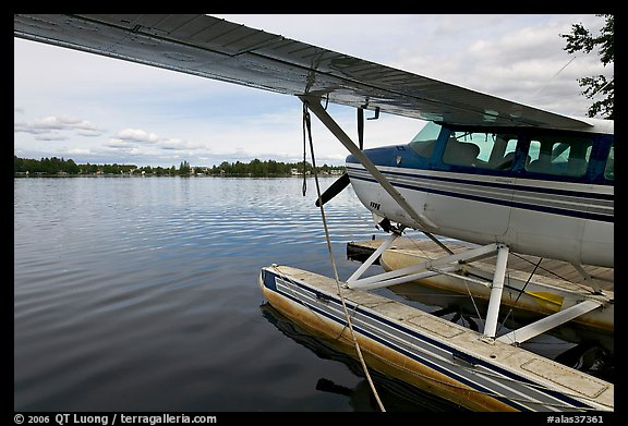 Float plane on Lake Hood. Anchorage, Alaska, USA (color)