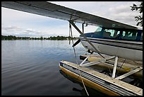 Float plane on Lake Hood. Anchorage, Alaska, USA ( color)