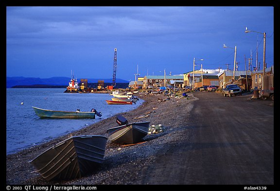 Shore avenue. Kotzebue, North Western Alaska, USA (color)