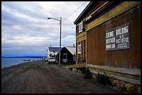 Eskimo building and US Post office on Shore avenue. Kotzebue, North Western Alaska, USA (color)