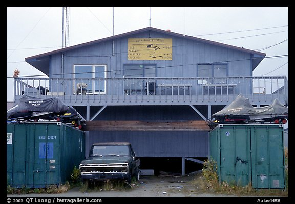 Bush store in Kiana. North Western Alaska, USA (color)