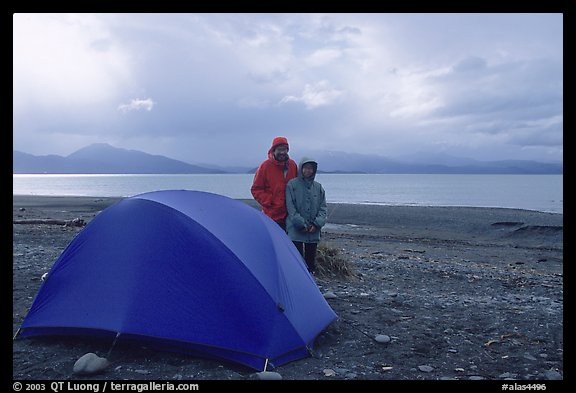 Camping on the Spit. Homer, Alaska, USA (color)