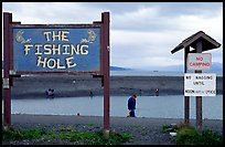 Fishing Hole signs. Homer, Alaska, USA ( color)