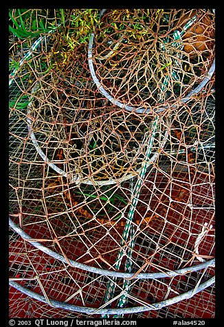 Fishing nets. Homer, Alaska, USA (color)