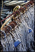Fishing hooks. Homer, Alaska, USA (color)