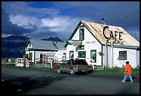 The tiny village's main street. Hope,  Alaska, USA ( color)