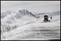 Snowplows and spindrift, Twelve Mile Summmit. Alaska, USA ( color)