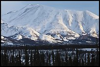Mountains in winter. Alaska, USA ( color)