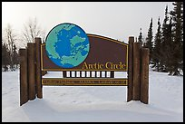 Arctic Circle marker, Dalton Highway. Alaska, USA ( color)