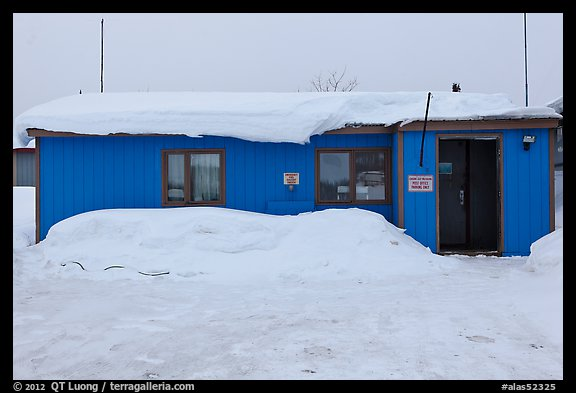 Post Office, Coldfoot. Alaska, USA (color)