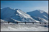 Trans Alaska Pipeline and snow-covered mountains. Alaska, USA ( color)