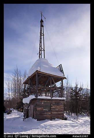 Energy-generating tower. Wiseman, Alaska, USA (color)