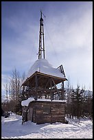 Energy-generating tower. Wiseman, Alaska, USA ( color)