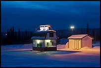 Drive-in coffee-shop night. Fairbanks, Alaska, USA ( color)