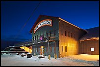 Silver Gulch brewery, winter night. Fairbanks, Alaska, USA ( color)