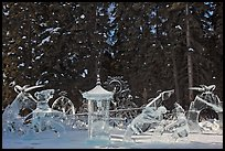 Ice scultpures, World Ice Art Championships. Fairbanks, Alaska, USA ( color)