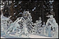 Multiblock Ice scultpures, Ice Alaska. Fairbanks, Alaska, USA (color)
