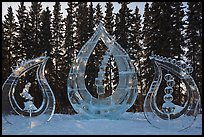 Multiblock Ice scultpures, World Ice Art Championships. Fairbanks, Alaska, USA ( color)