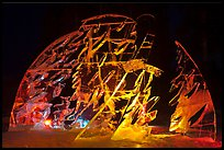 Illuminated ice carving, 2012 Ice Alaska. Fairbanks, Alaska, USA (color)