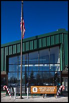 Post office facade. North Pole, Alaska, USA (color)