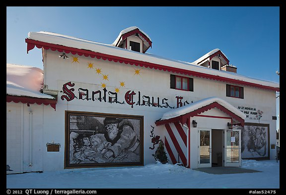 Santa Claus House facade. North Pole, Alaska, USA (color)