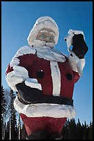 Giant Santa Claus statue. North Pole, Alaska, USA ( color)