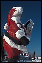 Santa Claus statue and house. North Pole, Alaska, USA ( color)