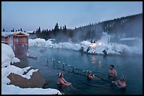 Rock Lake natural pool in winter. Chena Hot Springs, Alaska, USA ( color)