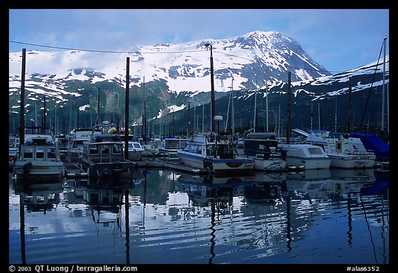 Whittier harbor. Whittier, Alaska, USA
