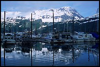 Whittier harbor. Whittier, Alaska, USA ( color)
