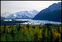 Matanuska Glacier in the fall. Glenn Highway, Central Alaska, USA