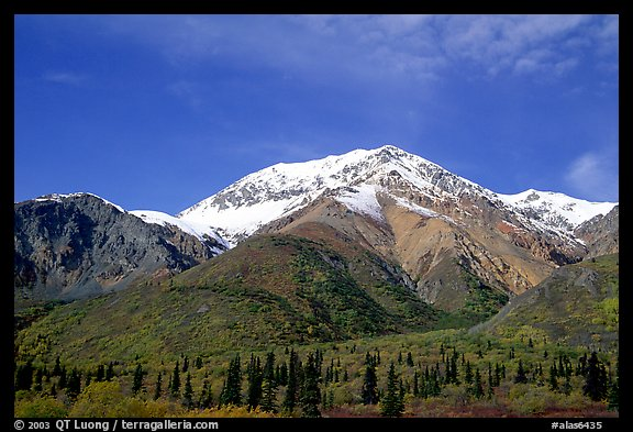 Mineralized Sheep Mountain in the Talkeetna Range. Alaska, USA (color)