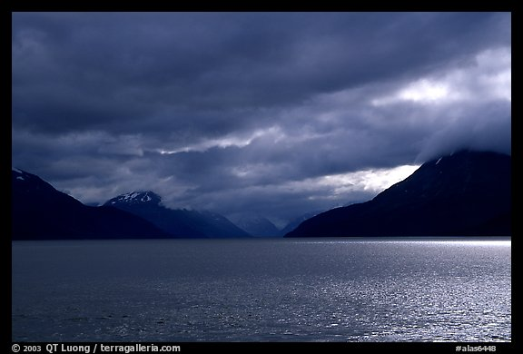 Storm clouds hang over the Turnagain Arm. Alaska, USA (color)