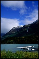 Floatplane in Lower Summit Lake. Alaska, USA (color)