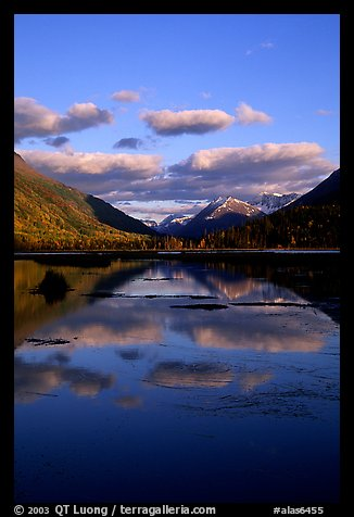 Tern Lake in late afternoon. Alaska, USA (color)
