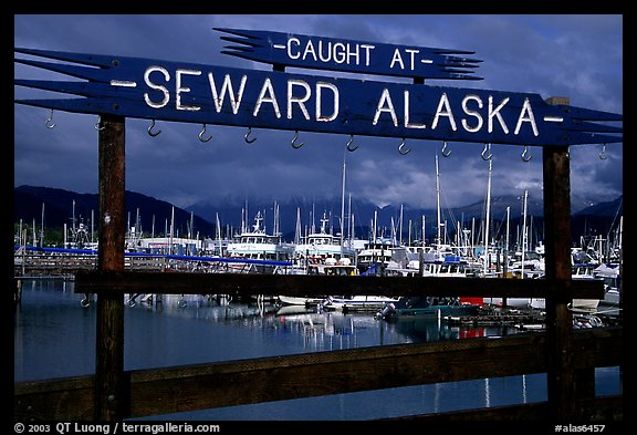 Seward harbor. Seward, Alaska, USA (color)