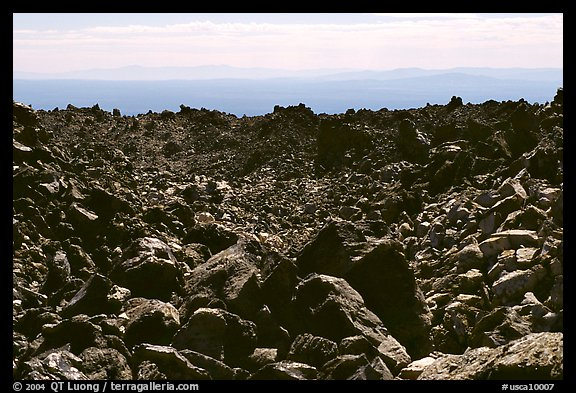 Lava fields, Glass Mountain. California, USA (color)